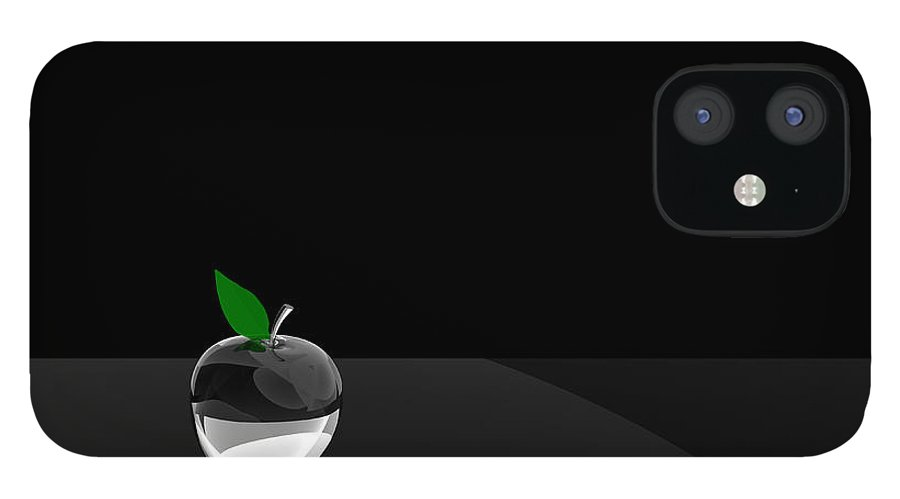 Glass IPhone 12 Case featuring the digital art Glass Apple by Paul McManus