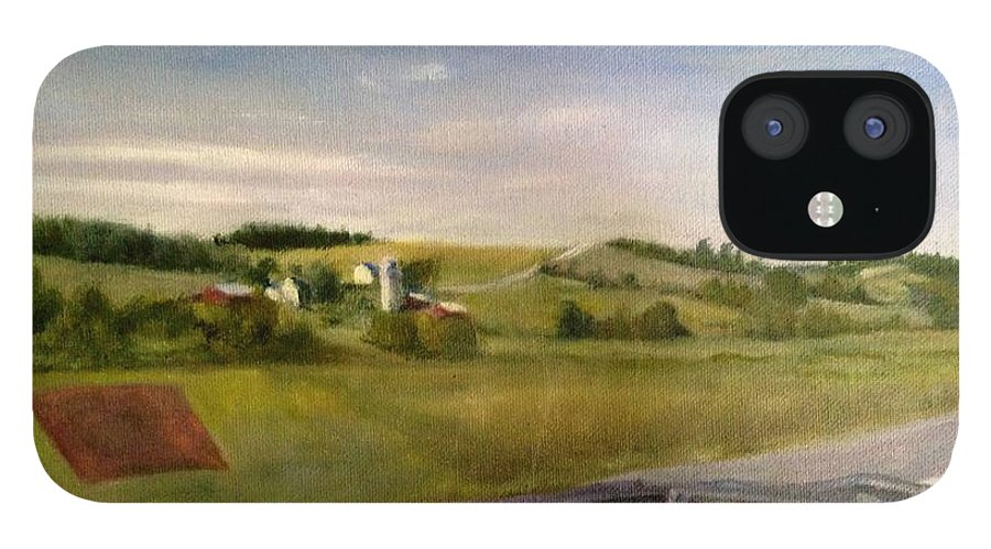 Car IPhone 12 Case featuring the painting Going Home by Sheila Mashaw