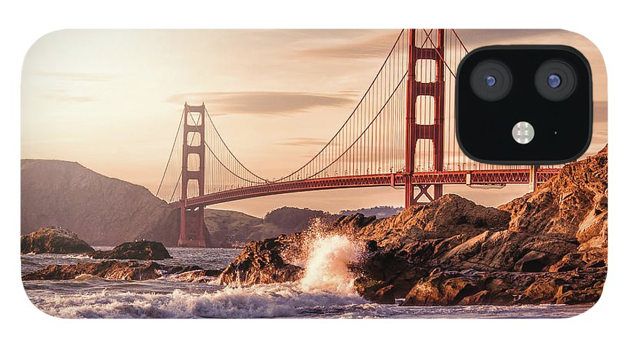 Water's Edge IPhone 12 Case featuring the photograph Golden Gate Bridge From Baker Beach by Karsten May