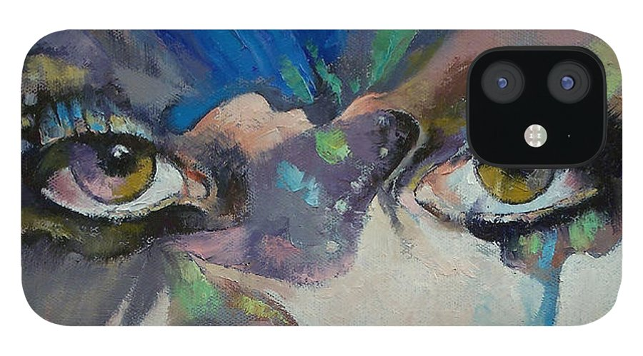 Gothic iPhone 12 Case featuring the painting Gothic Butterflies by Michael Creese