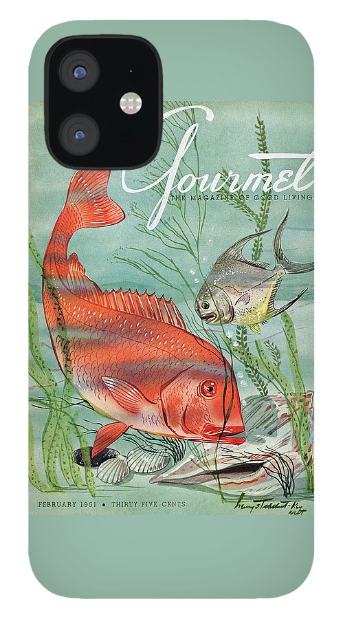 Gourmet Cover Featuring A Snapper And Pompano IPhone 12 Case
