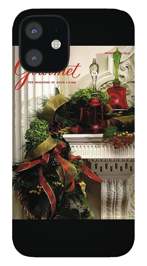 Gourmet Magazine Cover Featuring Christmas Garland IPhone 12 Case