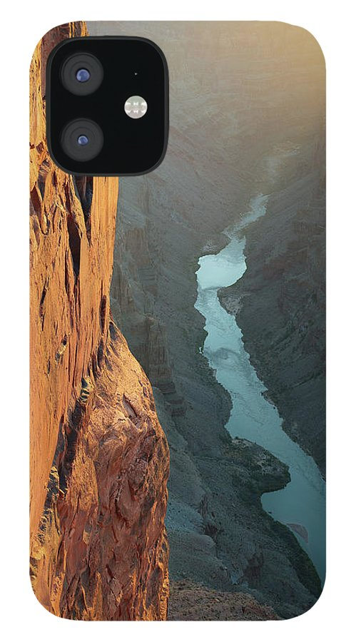 Scenics IPhone 12 Case featuring the photograph Grand Canyon Toroweap Point Morning by Kjschoen