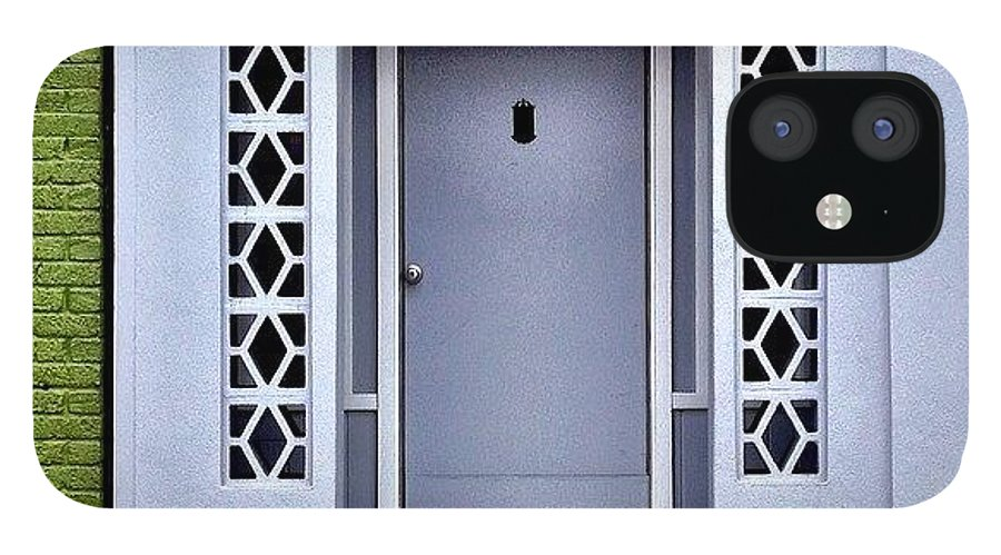 Greynotes IPhone 12 Case featuring the photograph Grey Door by Julie Gebhardt