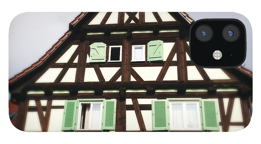 Half-timbered IPhone 12 Case featuring the photograph Half-timbered house 01 by Matthias Hauser
