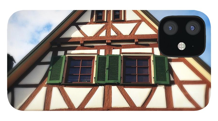 Half-timbered IPhone 12 Case featuring the photograph Half-timbered house 02 by Matthias Hauser