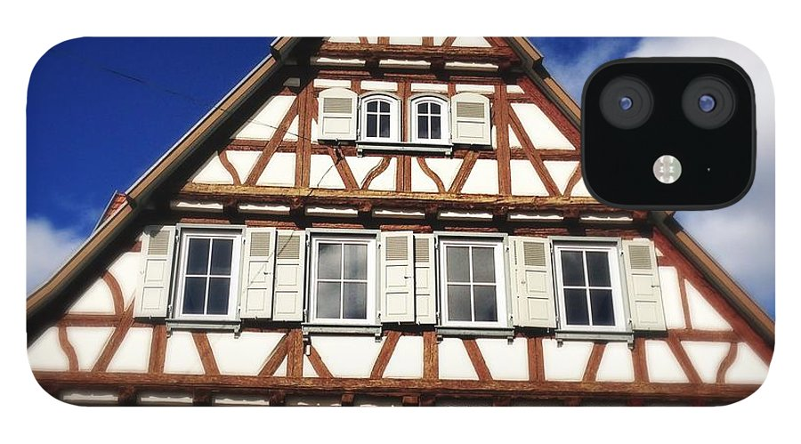 Half-timbered IPhone 12 Case featuring the photograph Half-timbered house 03 by Matthias Hauser
