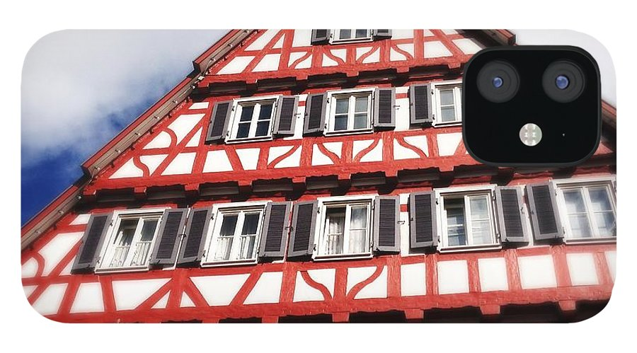 Half-timbered IPhone 12 Case featuring the photograph Half-timbered house 06 by Matthias Hauser