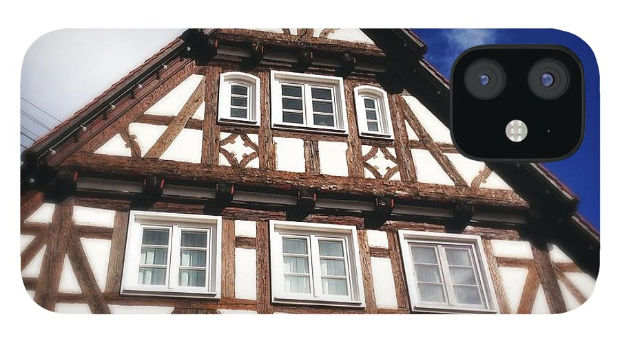 Half-timbered IPhone 12 Case featuring the photograph Half-timbered house 08 by Matthias Hauser