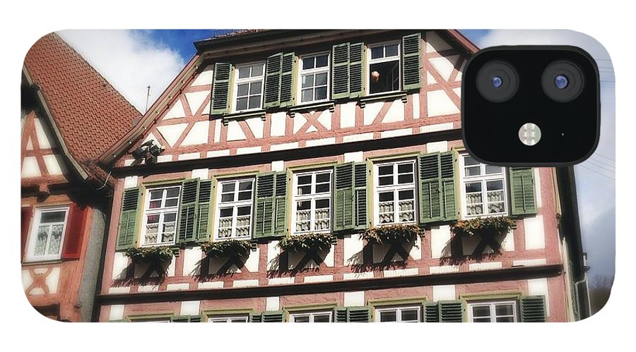 Half-timbered IPhone 12 Case featuring the photograph Half-timbered house 11 by Matthias Hauser