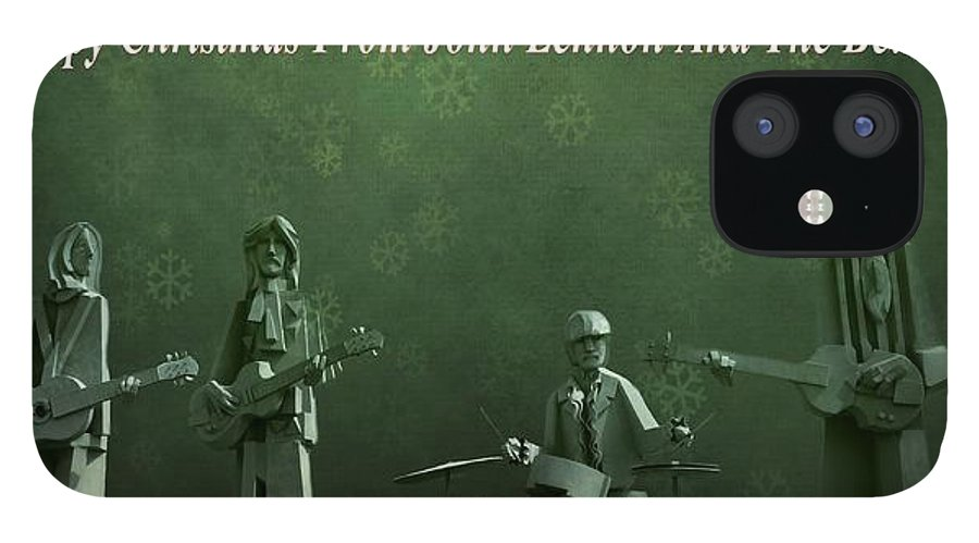 Happy Christmas From John Lennon IPhone 12 Case featuring the photograph Happy Christmas From John Lennon by Dan Sproul