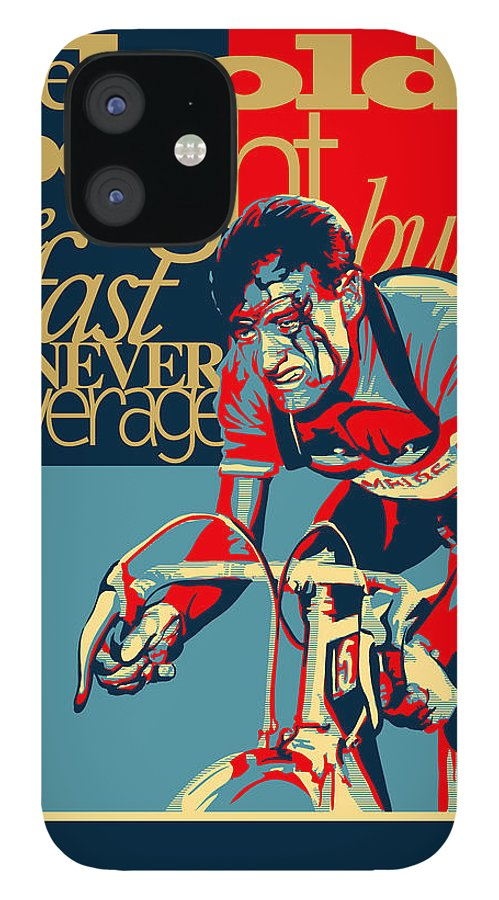 Vintage Tour De France IPhone 12 Case featuring the painting Hard as Nails vintage cycling poster by Sassan Filsoof