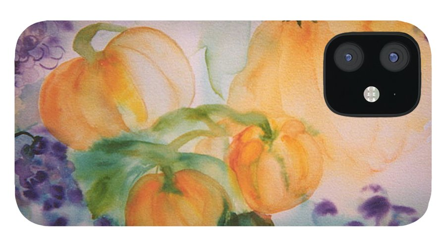 Watercolors IPhone 12 Case featuring the painting Harvest time by Phoenix Simpson