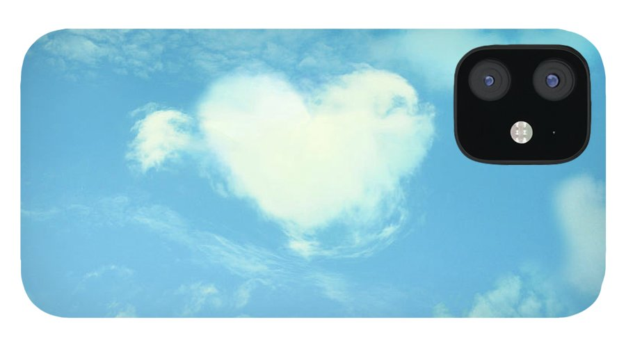 Outdoors IPhone 12 Case featuring the photograph Heart-shaped Cloud by Yurif