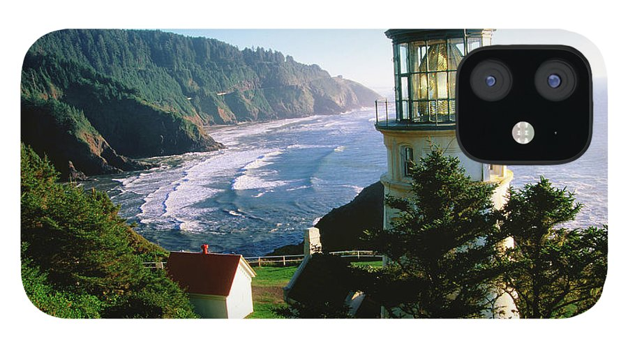 Shadow iPhone 12 Case featuring the photograph Heceta Head Lighthouse by John Elk
