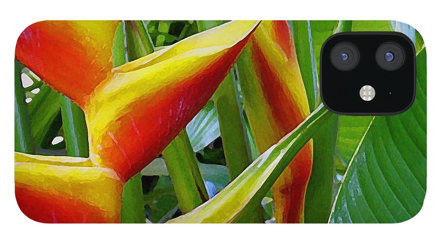 Heliconia IPhone 12 Case featuring the photograph Heliconia Bihai Kamehameha by James Temple