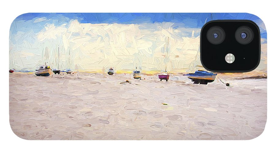Yachts IPhone 12 Case featuring the photograph High and dry by Sheila Smart Fine Art Photography
