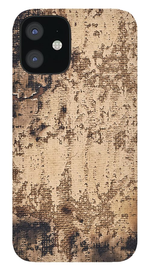 Burnt iPhone 12 Case featuring the photograph High Resolution Burnt Primed Burlap by Miroslav Boskov