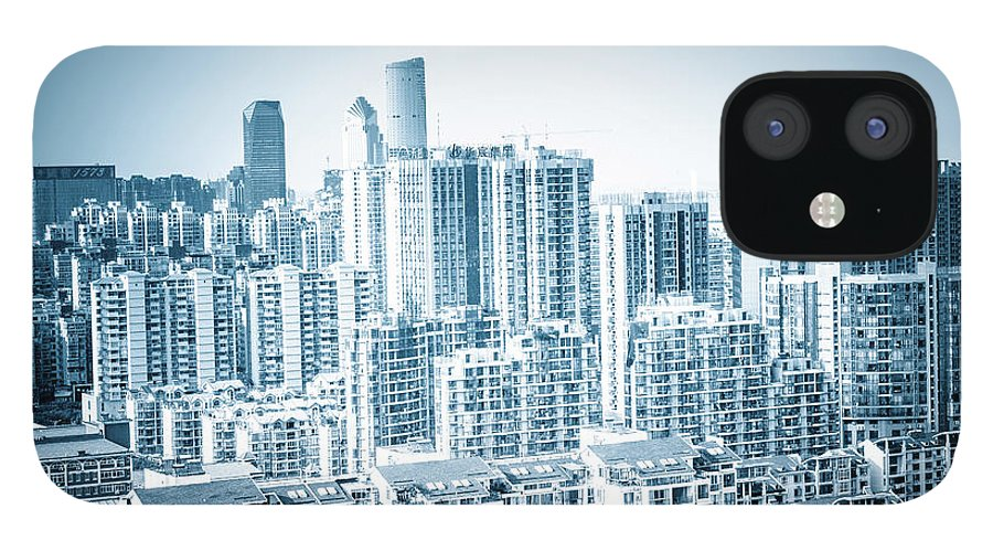 Residential District IPhone 12 Case featuring the photograph High Rise Residential Area by Aaaaimages