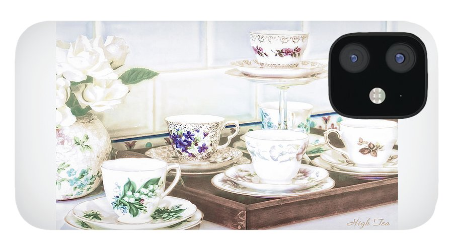 High Tea IPhone 12 Case featuring the photograph High Tea by Holly Kempe
