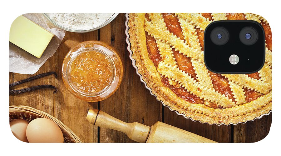 Breakfast IPhone 12 Case featuring the photograph Homemade Italian Crostata With by Fcafotodigital