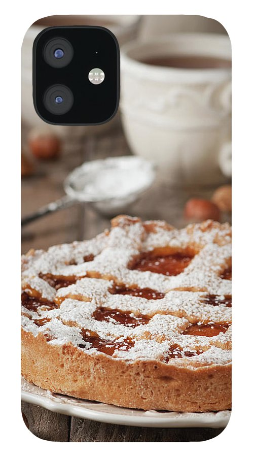 Spoon IPhone 12 Case featuring the photograph Homemade Tart With Jam by Oxana Denezhkina