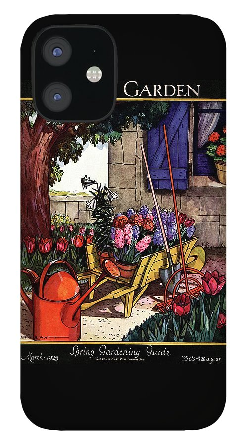 House & Garden Cover Illustration Of Garden Scene IPhone 12 Case
