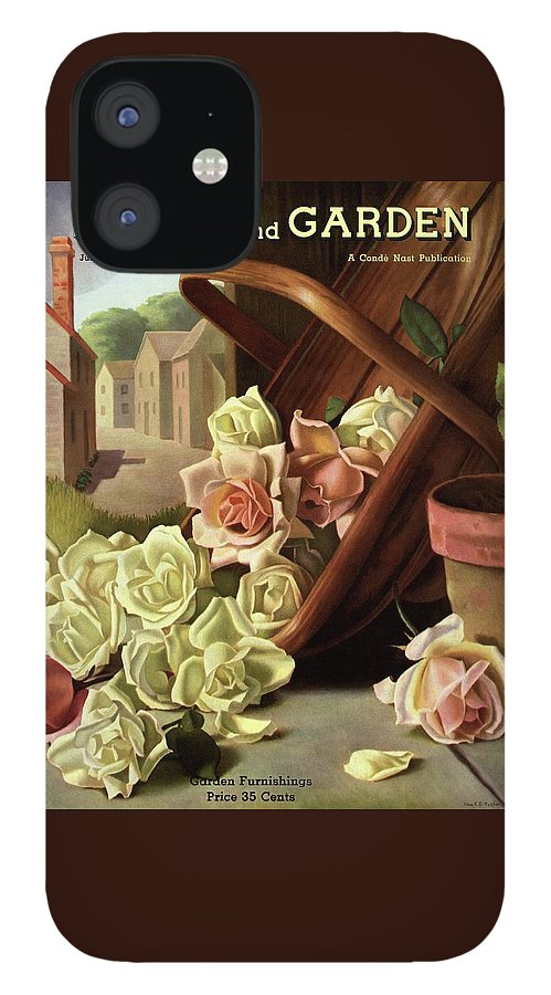 House And Garden Cover Of An Upturned Basket IPhone 12 Case