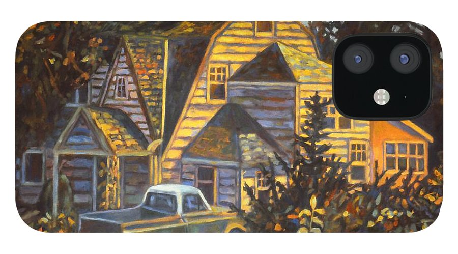 Kendall Kessler IPhone 12 Case featuring the painting House in Christiansburg by Kendall Kessler