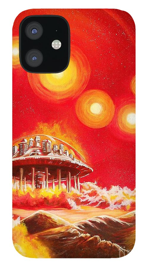 House IPhone 12 Case featuring the painting House of the Rising Suns by Murphy Elliott