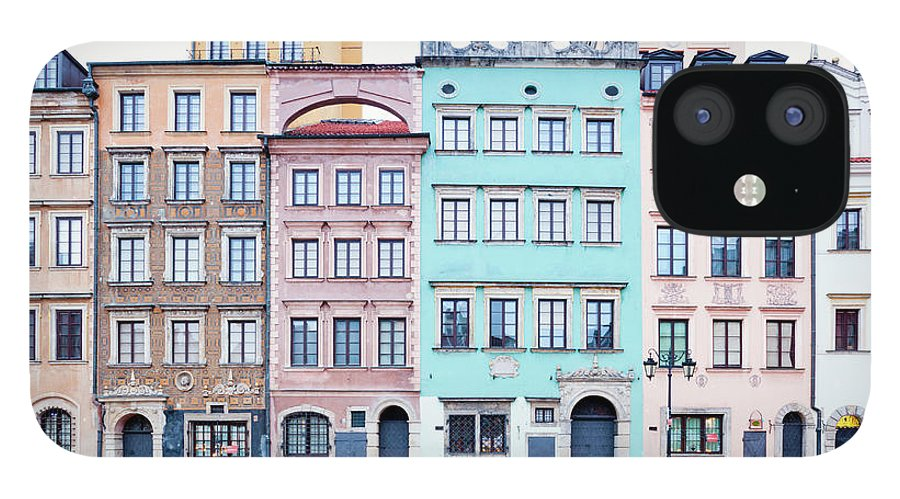 Apartment IPhone 12 Case featuring the photograph Houses On Old Town Market Place by Jorg Greuel