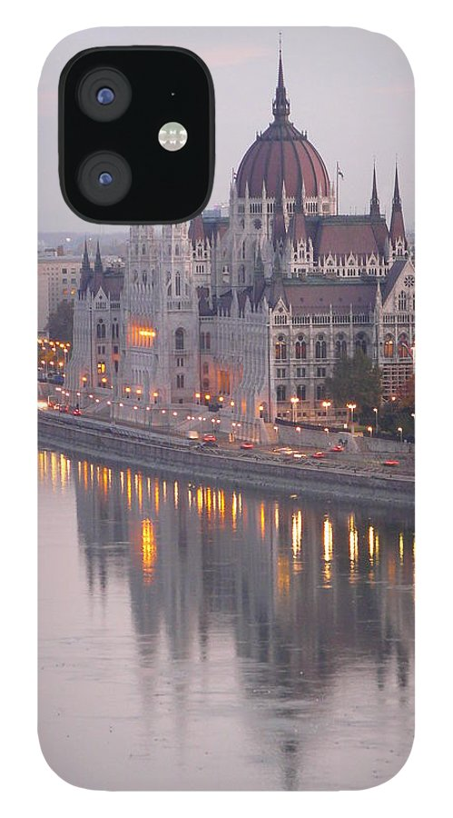 Outdoors IPhone 12 Case featuring the photograph Hungarian Parliament At Sunrise by Ilona Nagy