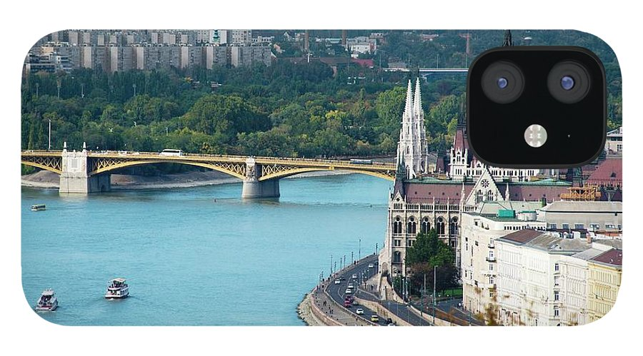 Arch iPhone 12 Case featuring the photograph Hungarian Parliament Building by Paul Biris