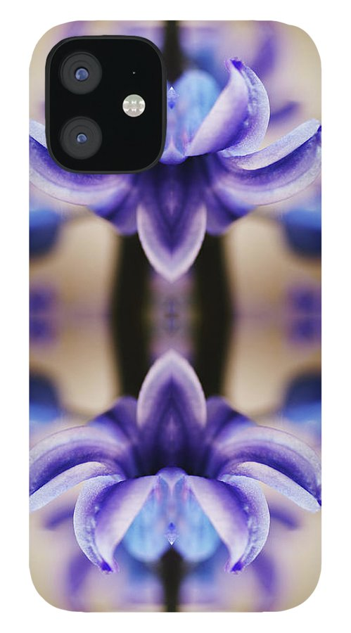 Purple IPhone 12 Case featuring the photograph Hyazinth by Silvia Otte