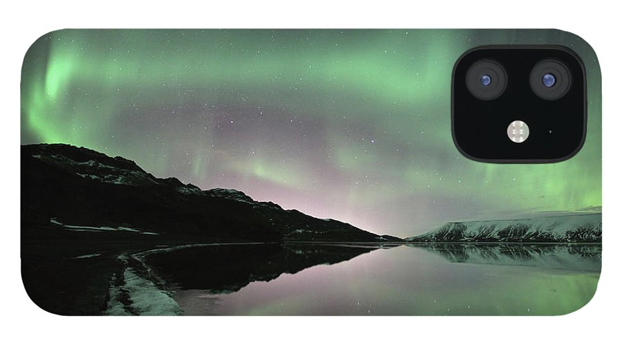 Scenics IPhone 12 Case featuring the photograph Icelands Aurora by By Chakarin Wattanamongkol