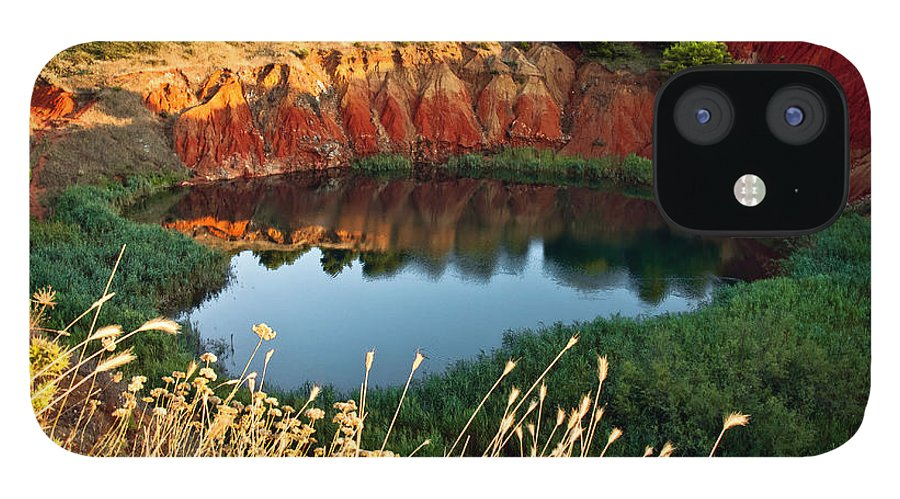 Scenics iPhone 12 Case featuring the photograph Il Lago Di Bauxite by Rossana Coviello