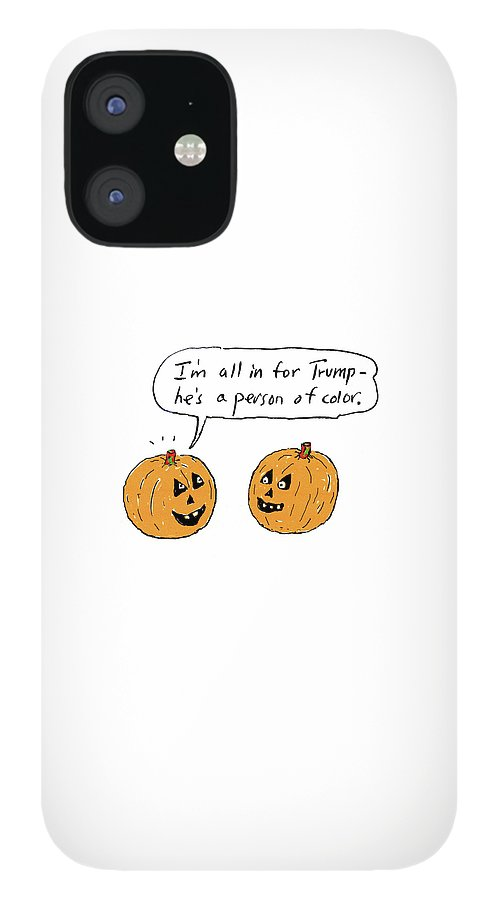 I'm All In For Trump He's A Person Of Color IPhone 12 Case