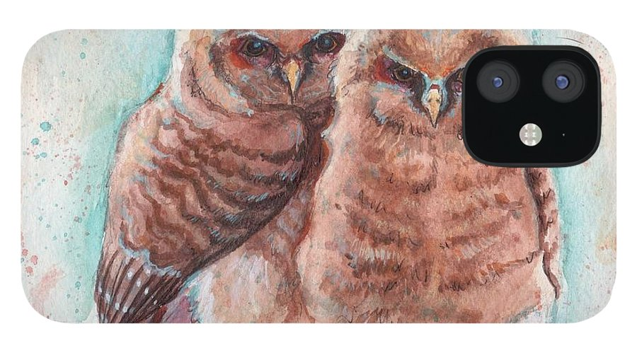 Wildlife IPhone 12 Case featuring the painting In Cahoots by Tahirih Goffic