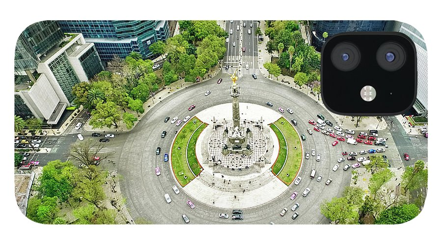Mexico City IPhone 12 Case featuring the photograph Independence Monument In Mexico City by Orbon Alija