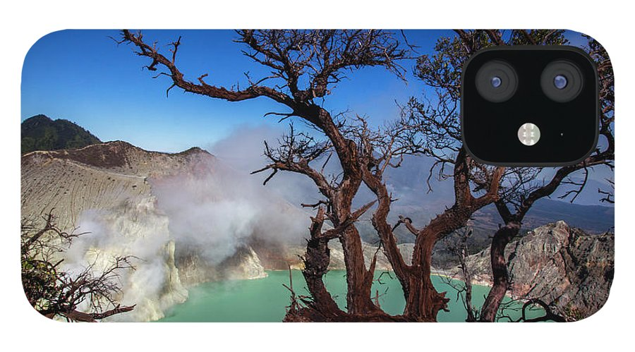 Crater Lake iPhone 12 Case featuring the photograph Indonesia, Java, Kawah Ijen by Andreas Kunz