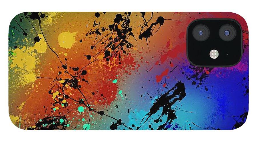 Original IPhone 12 Case featuring the painting Infinite M by Ryan Burton