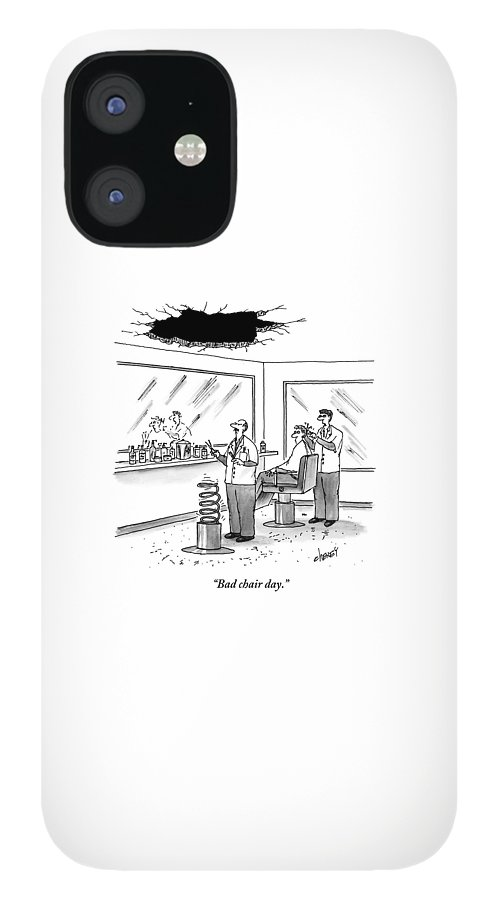 Inside Of A Barbershop There Is A Hole IPhone 12 Case