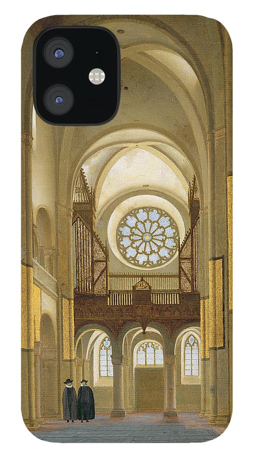 Mary's Church IPhone 12 Case featuring the photograph Interior Of The Marienkirche In Utrecht, 1638 Oil On Panel Detail Of 150808 by Pieter Jansz Saenredam