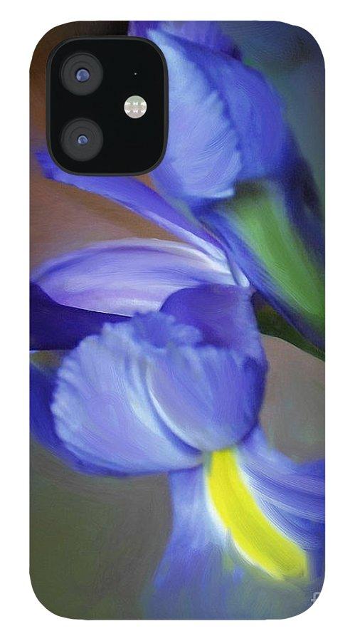 Iris IPhone 12 Case featuring the painting Iris Dream by Francine Dufour Jones