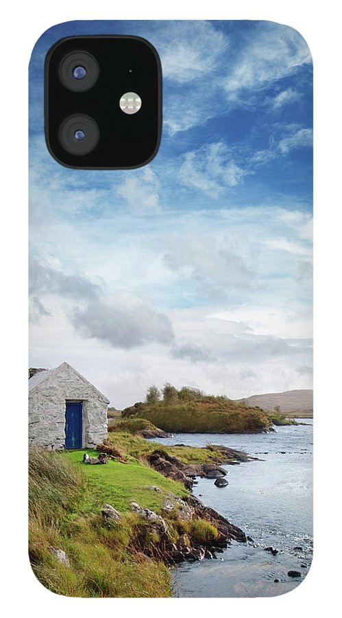 Water's Edge IPhone 12 Case featuring the photograph Irish Landscape In Connemara by Narvikk