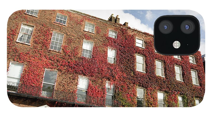 Dublin IPhone 12 Case featuring the photograph Ivy Covered Georgian Style Building In by Lleerogers