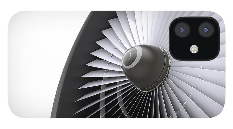 Engine IPhone 12 Case featuring the photograph Jet Turbine by Klenger
