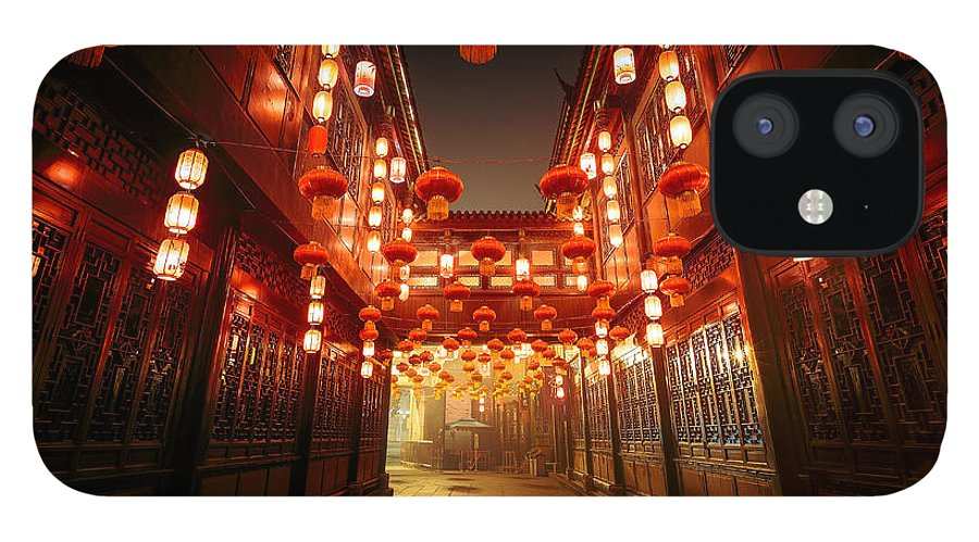Chinese Culture IPhone 12 Case featuring the photograph Jinli Street, Chengdu, Sichuan, China by Kiszon Pascal
