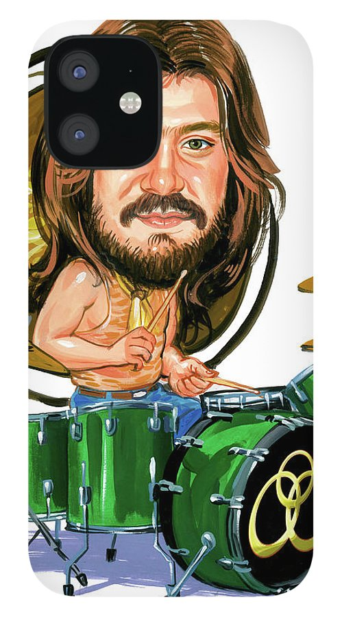 John Bonham IPhone 12 Case featuring the painting John Bonham by Art