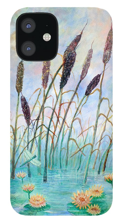 Pond IPhone 12 Case featuring the painting Joy Of Summer by Ben Kiger